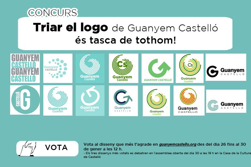 Guanyem Castelló Demana La Participació Ciutadana Per A Triar El Seu Logo