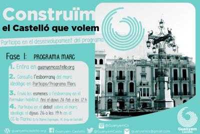 Participa En L'elaboració Del Programa Marc De Guanyem Castelló