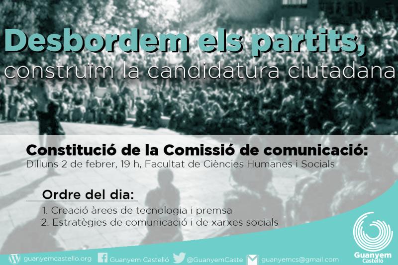 Constitució De La Comissió De Comunicació