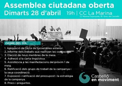 Assemblea 28 D'abril. Recta Final Per Iniciar La Campanya