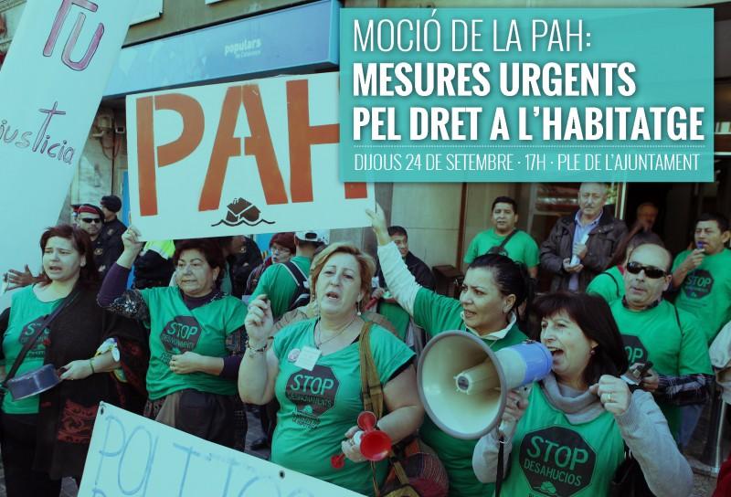 Moció De La PAH Amb Mesures Urgents Pel Dret A L'habitatge