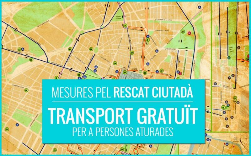 Exigim La Posada En Marxa De La Gratuïtat Del Transport Públic Per A Persones Aturades