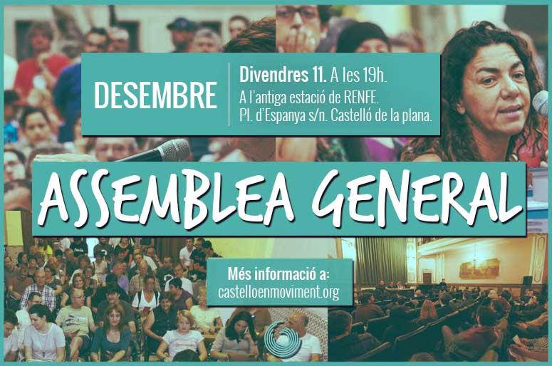 Assemblea De Desembre De Castelló En Moviment