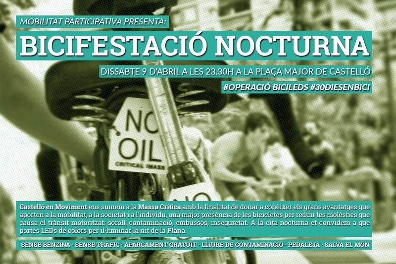 """El Dissabte Participem De La """"Bicifestació Nocturna"""" Dins La Campanya """"30 Dies En  Bici"""""""