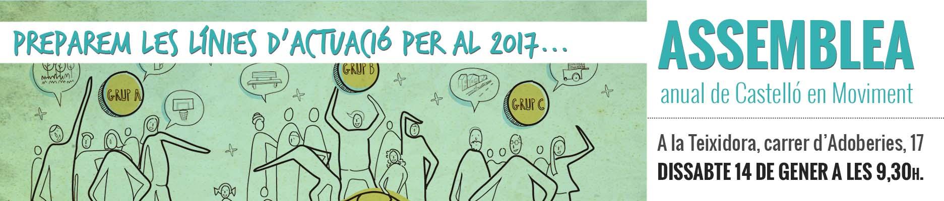 Prioritzem En Assemblea Les Nostres Línies De Treball Per Al 2017