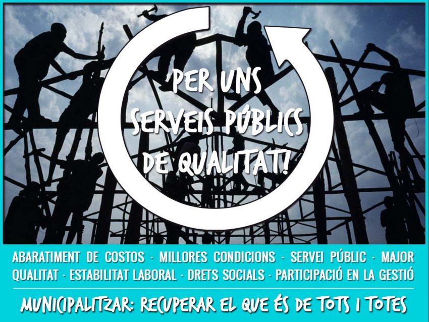 Alertem D'un Nou Intent Del Govern Central Per A Impedir La Recuperació Dels Serveis Privatitzats