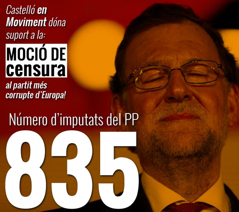 Proposem Que Castelló Se Sume A La Moció De Censura A Rajoy