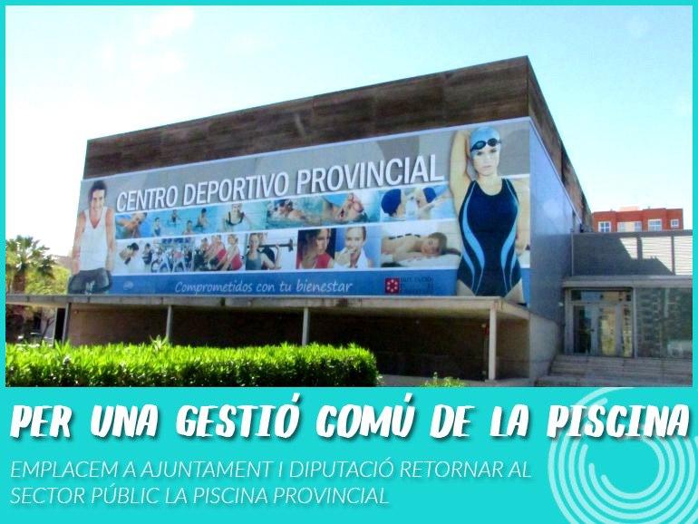 Vallejo Qüestiona Què Ha Fet Moliner «per La Plantilla De La Piscina Provincial 7 Mesos Després Del Seu Tancament»