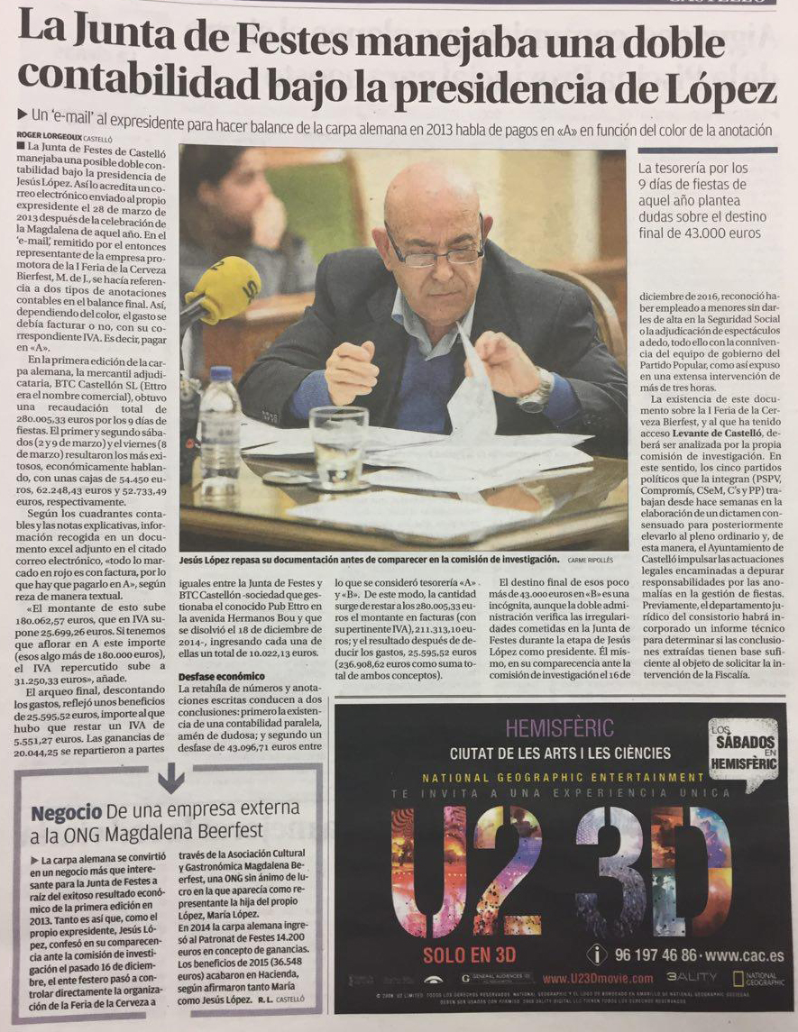 El PP és El Responsable Polític De La Trama De La Junta De Festes