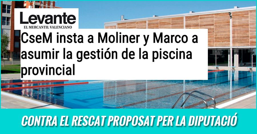 L'Ajuntament I La Diputació Deurien Apostar Per La Gestió Pública De La Piscina Provincial