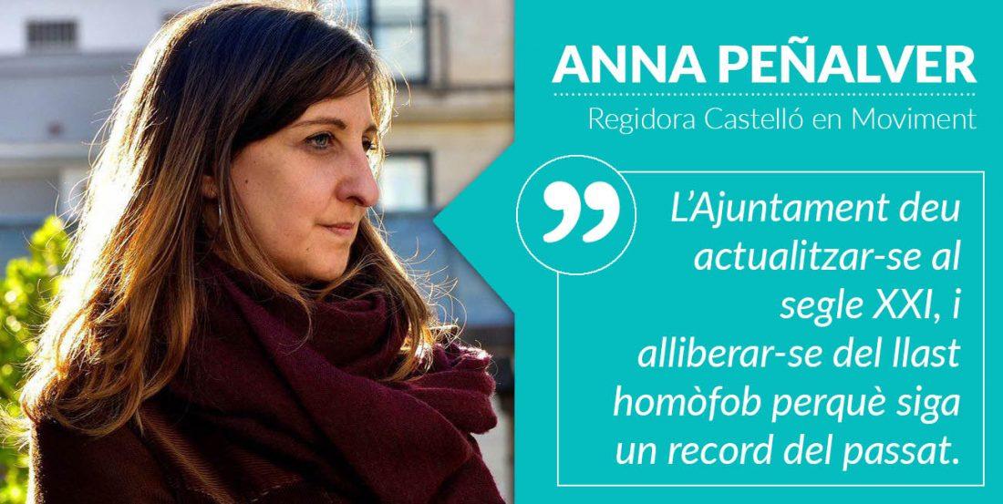 Peñalver: «Cap Entitat Que Incomplisca Els Drets Humans Deu Rebre Subvencions Públiques»