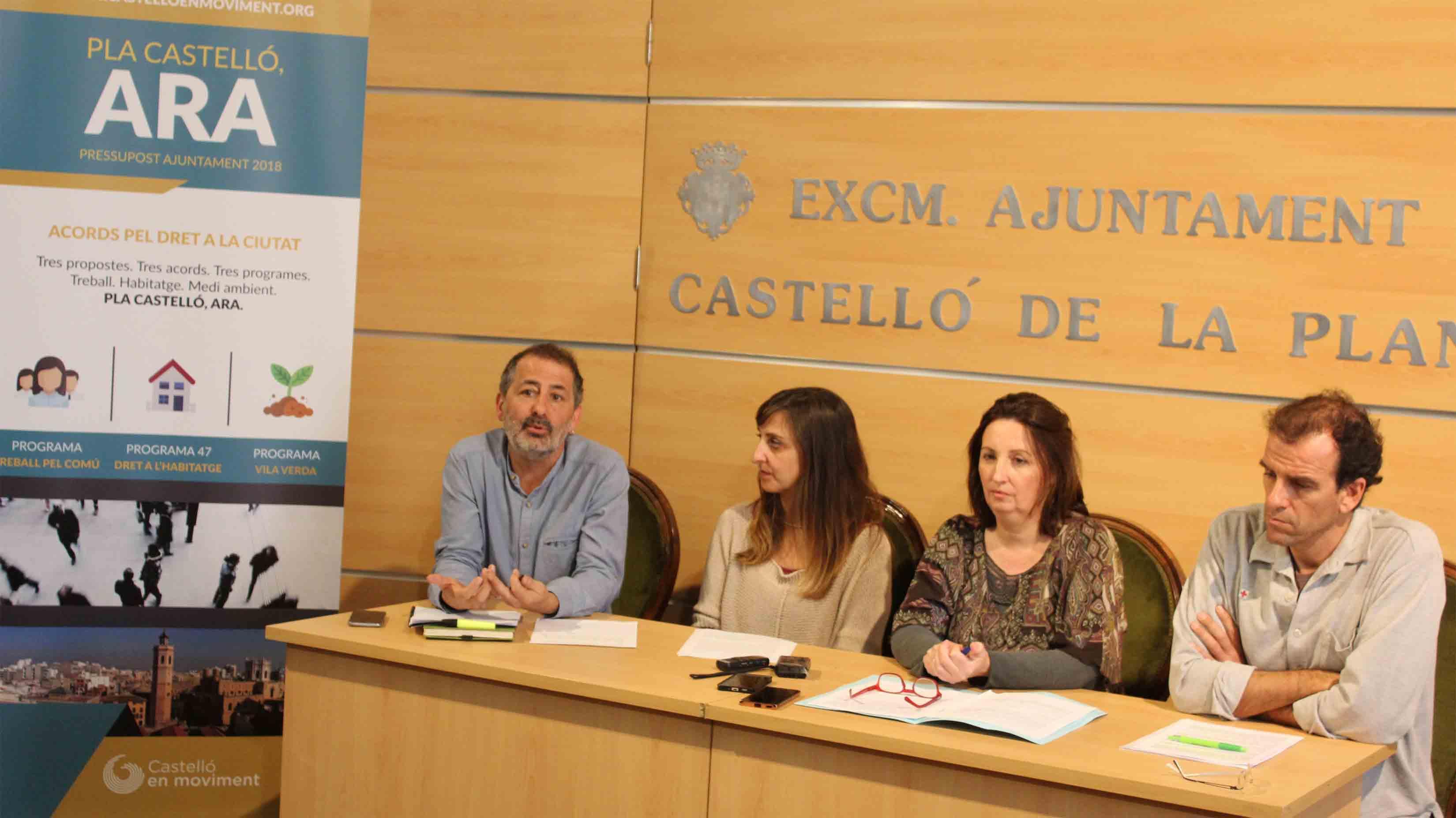 Pla #CastellóAra. Tres Acords Pel Dret A La Ciutat. Tres Propostes Per Als Pressupostos Municipals.