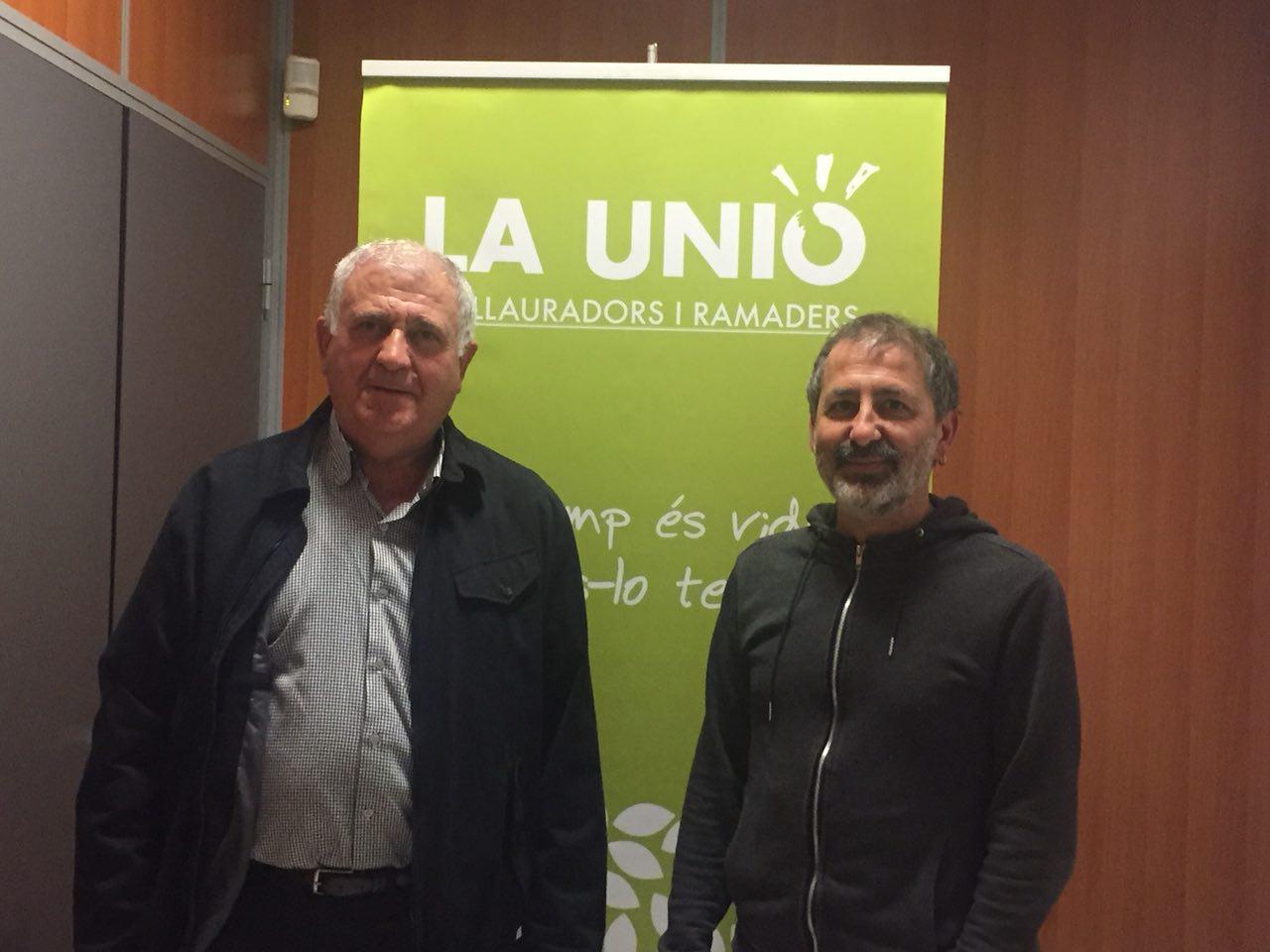 Ens Reunim Amb La Unió De Llauradors Per A Presentar El Pla Vila Verda