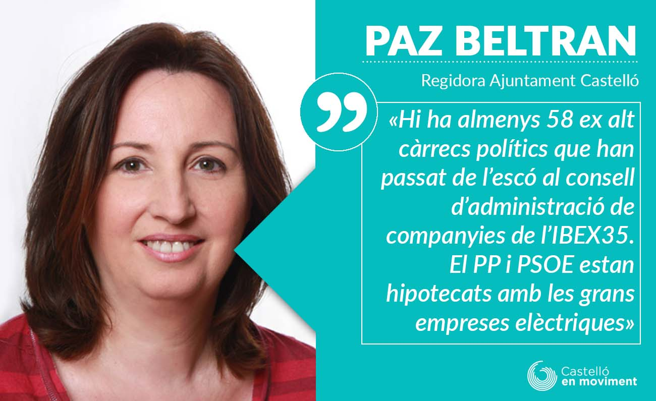 """""""Les Companyies Elèctriques Deuen Fer-se Càrrec Del Cost De Combatre La Pobresa Energètica"""" Paz Beltran"""