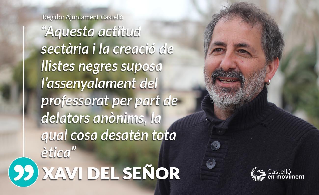 Del Señor: «Crear Llistes Negres De Professorat Com Defensen PP I Ciudadanos és De Sectaris»