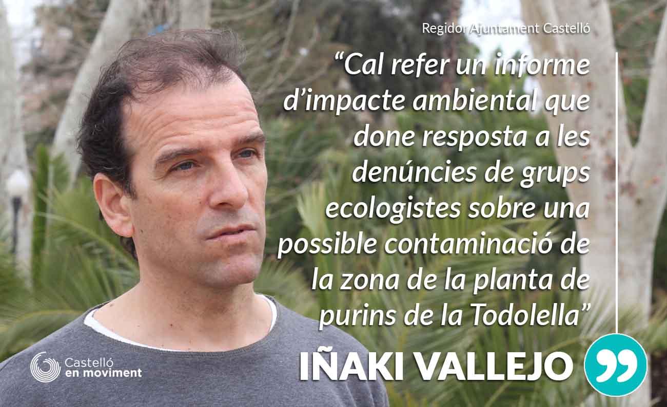 Vallejo: «Moliner Deuria Aprofitar La Recuperació De La Planta De Purins De La Todolella Per Refer Els Informes D'impacte Ambiental»