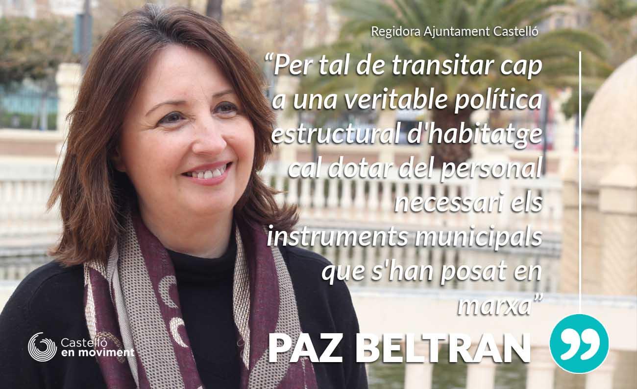Paz Beltran: «l'Oficina Municipal D'habitatge Segueix Infradotada De Personal Per La Manca D'iniciativa»