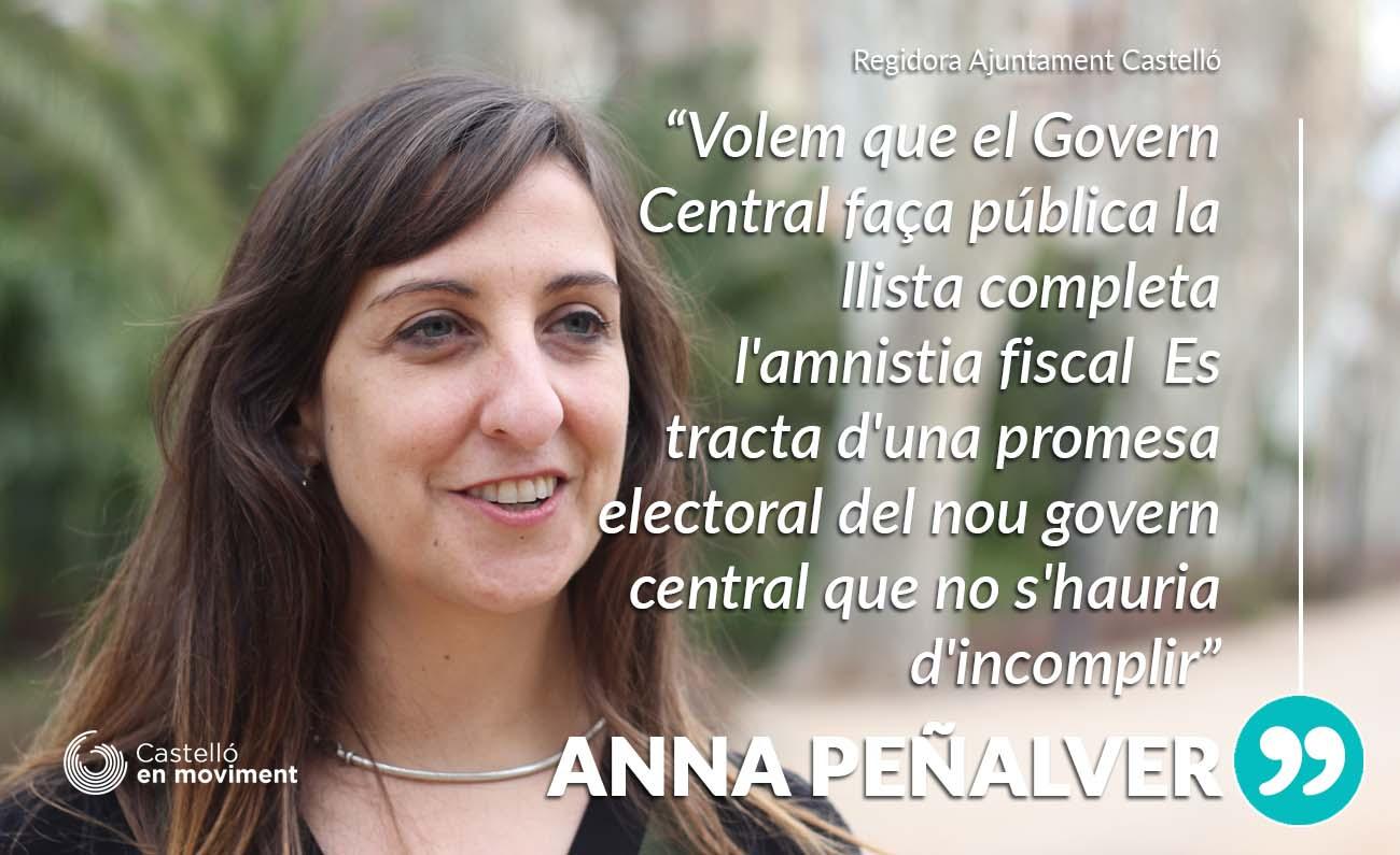 Proposem Que L'Ajuntament Inste Al Govern Central A Publicar La Llista De Beneficiaris De L'amnistia Fiscal