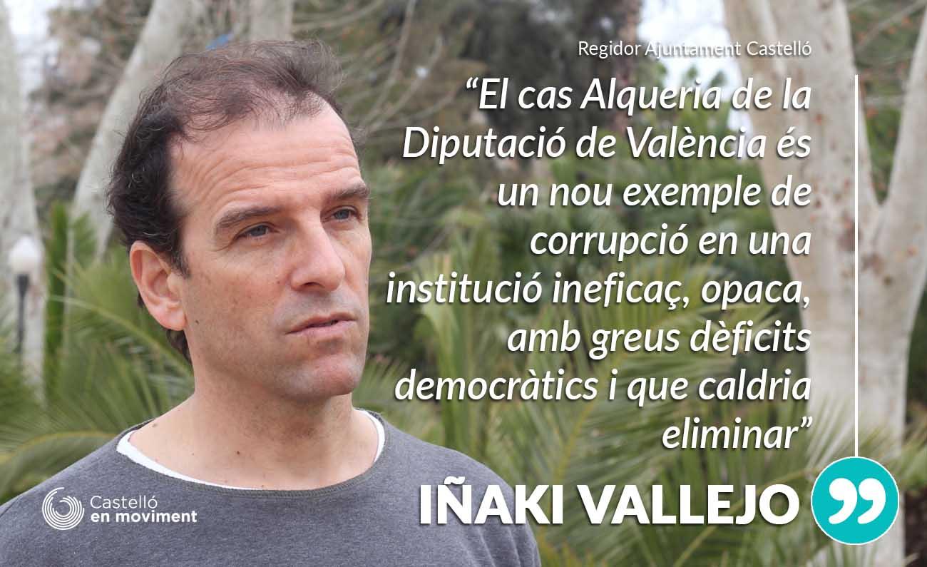 Vallejo: «El Cas Alqueria és Un Nou Argument Per A Suprimir Les Diputacions I Acabar En La Seua Utilització Clientelar»