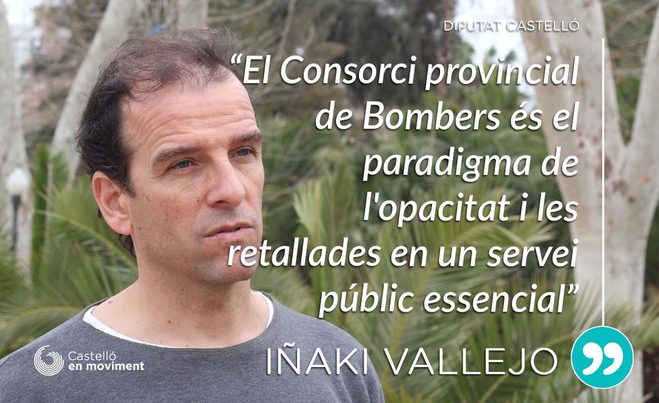 """""""El Consorci Provincial De Bombers és El Paradigma De L'opacitat I Les Retallades En Els Serveis Públics"""" Declara Iñaki Vallejo"""
