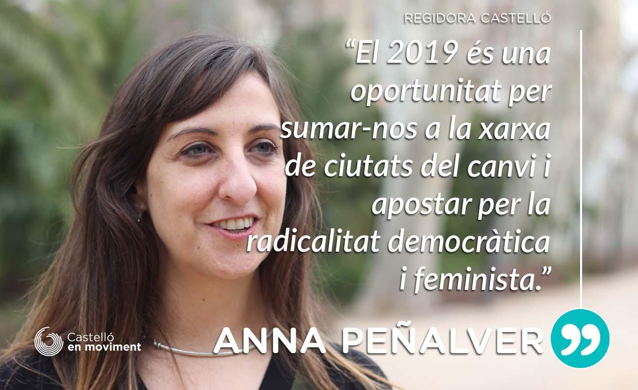 """Anna Peñalver: """"Esperem Que El 2019 Castelló Forme Part De Les Ciutats Del Canvi"""""""