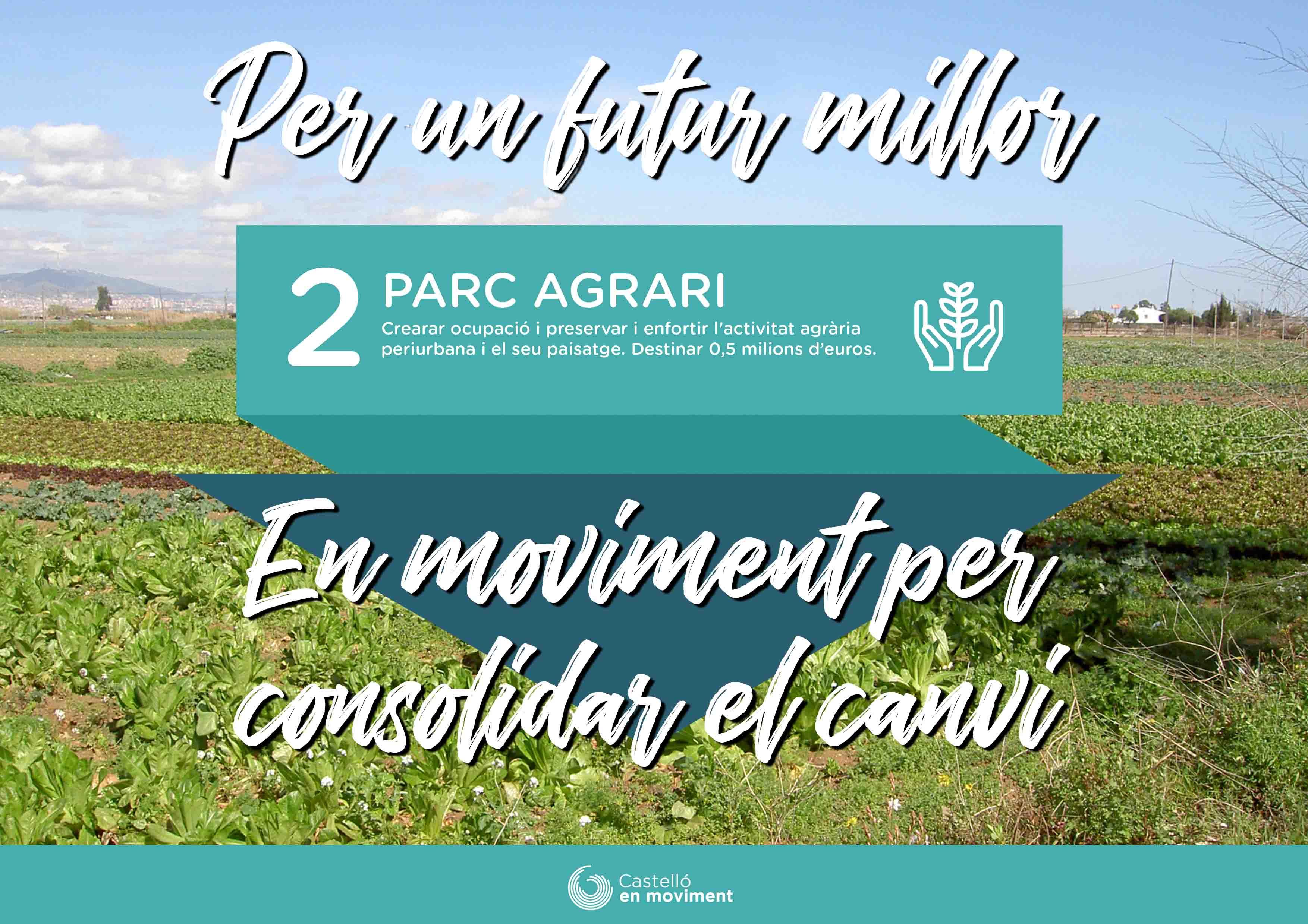 Proposem Incloure Mig Milió D'euros En El Pressupost 2019 Per A Impulsar El Parc Agrari